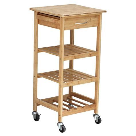 kitchen cart with wine storage oceanstar bamboo kitchen cart with wine rack bkc1378 the 8193