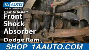 How To Install Repair Replace Front Shock Absorbers Dodge
