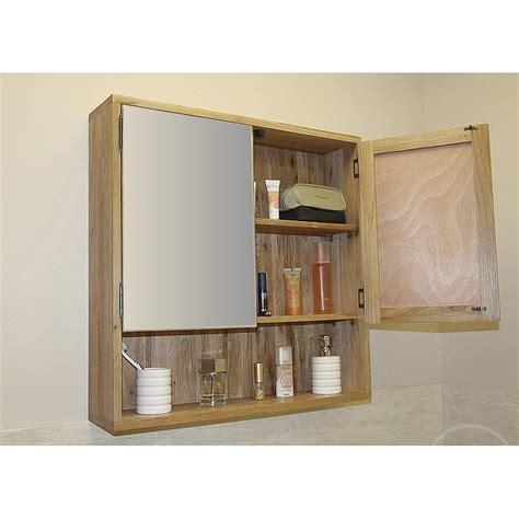 50% Off Oak Mirrored Bathroom Cabinet Prestige