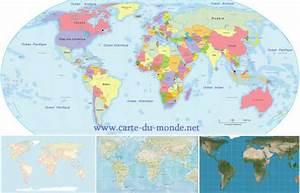 Carte Du Monde Metallique : carte du monde les cartes g ographique des pays du monde ~ Teatrodelosmanantiales.com Idées de Décoration