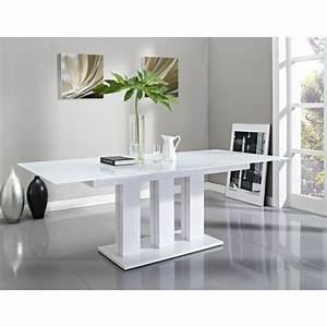 Table Pied Central Extensible : table verre pied central blanc ~ Teatrodelosmanantiales.com Idées de Décoration