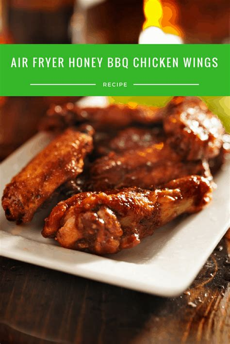 bbq honey wings chicken air fryer recipe recipes fried easy wing print author type cooking