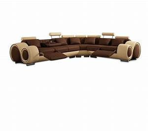 dreamfurniturecom divani casa 4087 modern bonded With 4087 modern leather sectional sofa with recliners