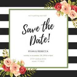 wedding invitations cards criar convite save the date grátis canva