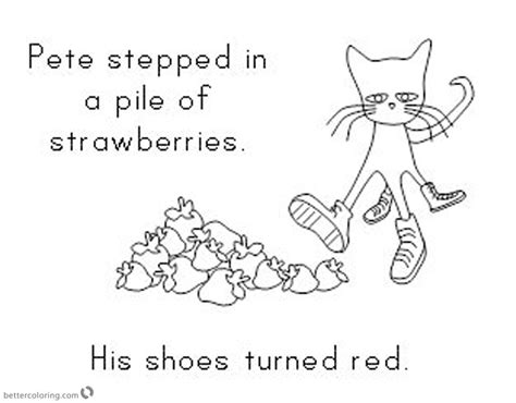 Pete The Cat Coloring Pages Sanfranciscolife