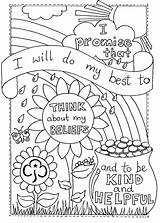 Promise Scout Coloring Rainbow Brownie Activities Sheet Colouring Printable Brownies Rainbows Scouts Girlguiding Daisy Crafts Around Guides Thinking Think Camping sketch template