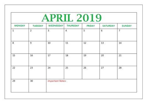 editable april  calendar calendar