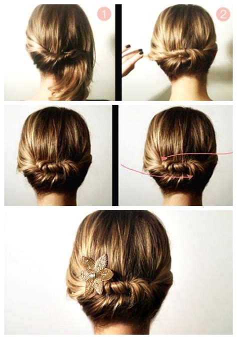 easy diy updos  short hair hairstyle ideas