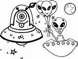 Alien Coloring Ufo Pages Unique sketch template