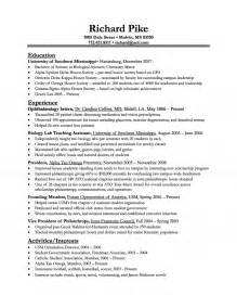 biology resume examples