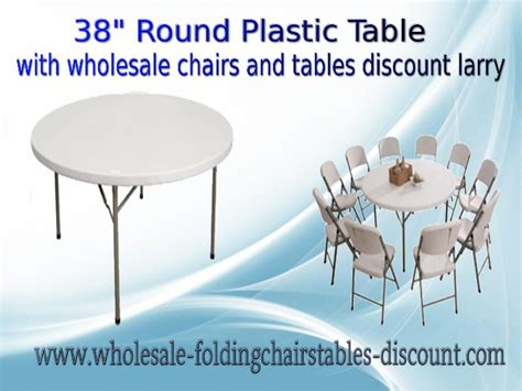 38 inches plastic table with wholesale chairs and