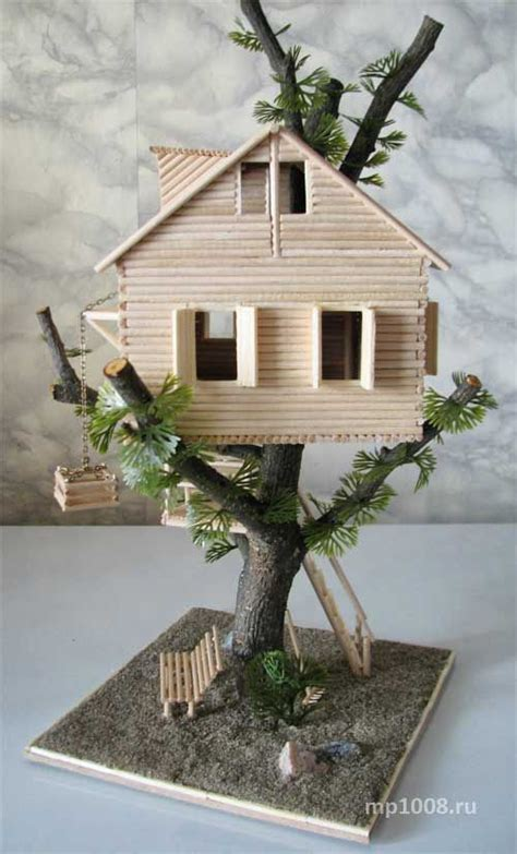 miniature tree house project 361 best popsicle sticks and more images on pinterest