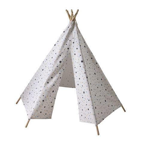 deco de chambre d ado fille tipi enfant motifs triangles et étoiles h 145 cm