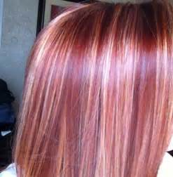 Cherry Red Hair with Blonde Highlights