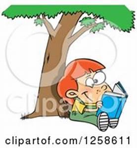 Woman Reading Under Tree Clip Art – Cliparts