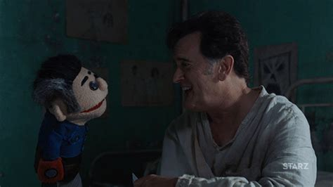 Bruce Cbell Memes - season 2 lol gif by ash vs evil dead find share on giphy