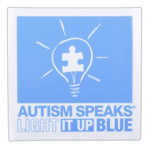 light it up blue light it up blue window cling 4 quot x 4 quot autism speaks