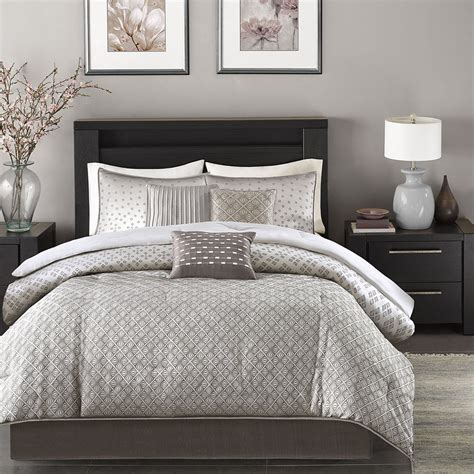modern comforter set beautiful modern contemporary design chic silver grey comforter set pillows ebay