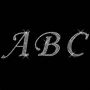 iron on bling letters letter template With swarovski crystal iron on letters