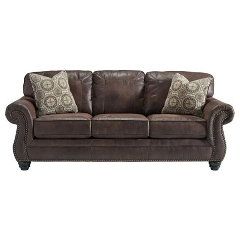 queen size sleeper sofa ashley breville faux leather queen size sleeper sofa in