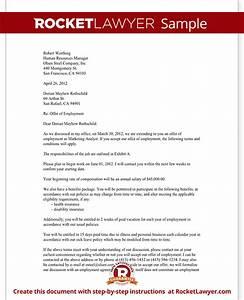 job offer letter employment offer letter template with With offer of employment letter template free