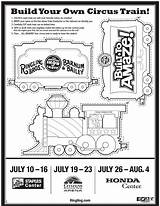 Circus Train Coloring Ringling Bros Template Printable Might Sheet Sheets Wagon Brothers Clown sketch template