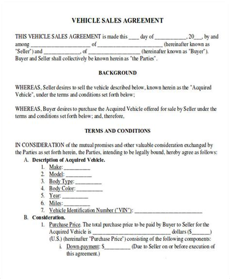 agreement letter formats   ms word
