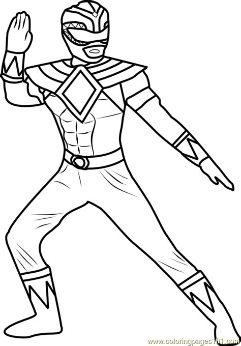 Power Ranger Green Coloring Page - Free Power Rangers ...
