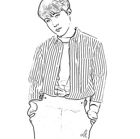 bts bts coloring page  coloring pages