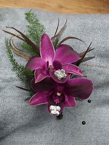 Purple orchid boutonniere for wedding and prom. | My ...
