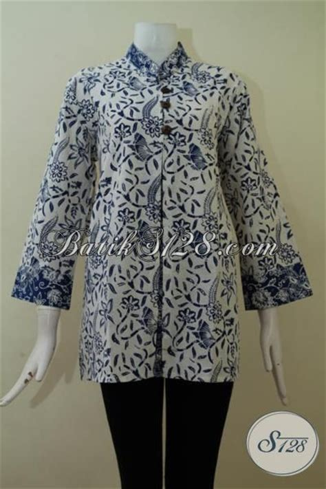 model baju atasan batik  wanita gemuk big size xxl
