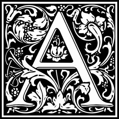William Morris Letter Clip Onlinelabels Svg