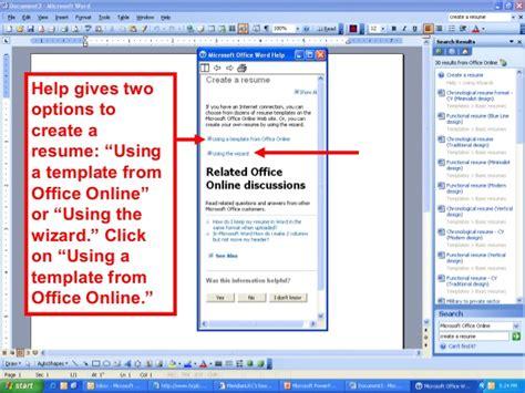 Word Document Resume Wizard by Resume Wizard Microsoft Word Israeldagor