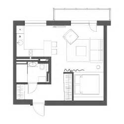 Floor Plans Apartments by 2 Simple Beautiful Studio Apartment Concepts For A