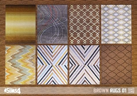 kitchen furniture accessories brown rugs 01 at oh my sims 4 sims 4 updates