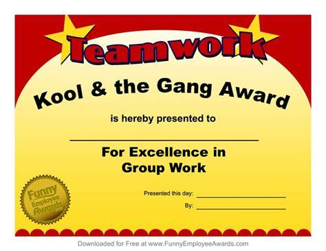 fun award templatefree employee award certificate