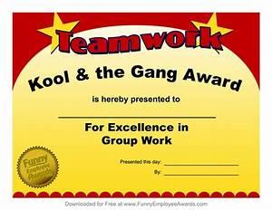 Fun award templatefree employee award certificate for Funny certificates for employees templates