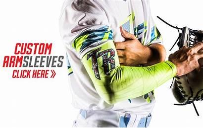 Sleeves Arm Custom Baseball Triton Jerseys Uniforms