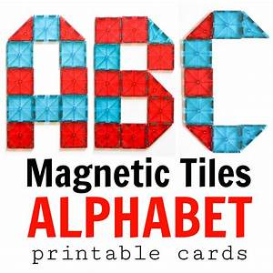 magna tiles alphabet cards adventure in a box With magnetic letter printables
