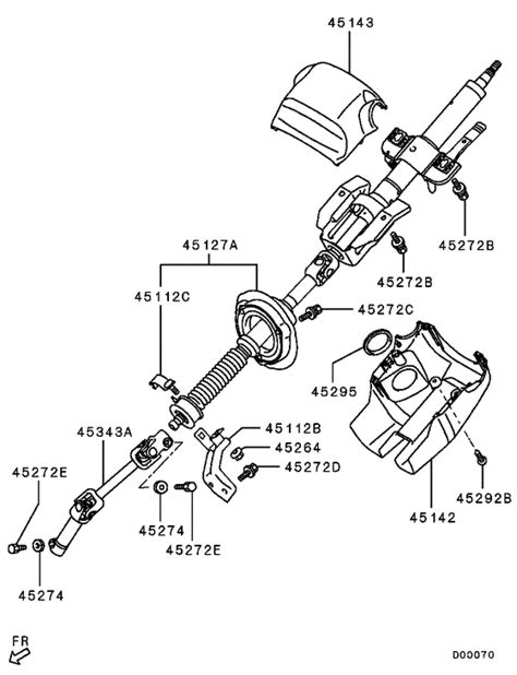 Clutch Cover Assy M L200 Triton steering column cover for 2006 2009 mitsubishi l200