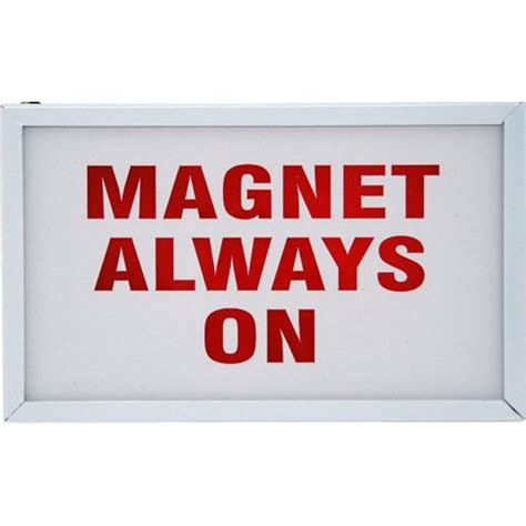 magnet always on light up wall sign