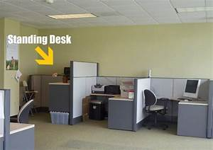 Build Standing Desk Standingdesk Make Your Own Standing Desk Cubicle