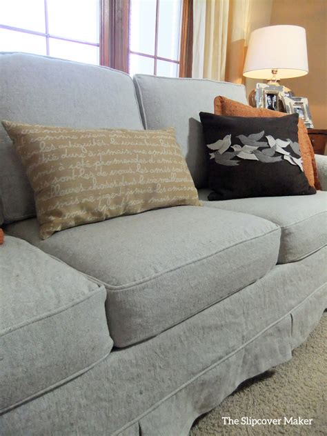 linen sectional sofa linen slipcovers the slipcover maker
