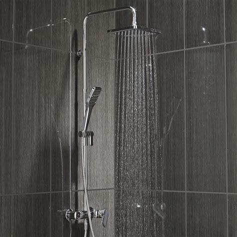 colonne de douche avec robinetterie sensea remix leroy