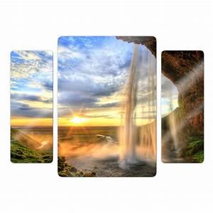 K L Wall Art : 3 teiliges glasbild seljalandsfoss wasserfall von k l wall art wall ~ Buech-reservation.com Haus und Dekorationen