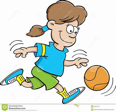 Basketball Dribble Clipart Dribbling Playing Cartoon Illustration