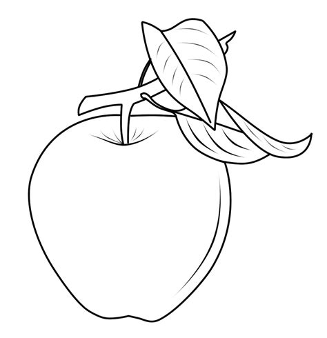 mewarnai gambar buah buahan apel