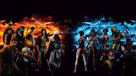 video game legends mashup  ultra hd wallpaper