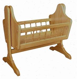 Oak Wood Swinging Doll Cradle from DutchCrafters Amish