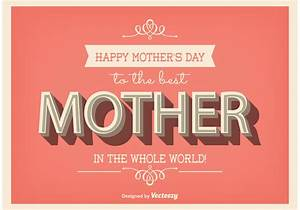 Typographic Mother's Day Poster - Download Free Vector Art ...